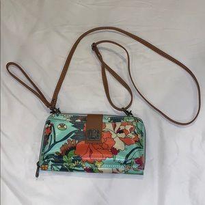 NWOT Floral cross body purse